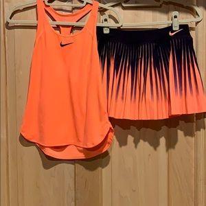 Nike Dri-Fit tennis outfit.   Women's medium.